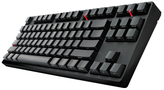 Cooler Master CM Storm QuickFire Stealth Mechanical Keyboard Cherry MX Green Switches