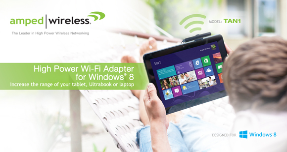 Amped Wireless High Power Wi-Fi Adapter for Windows 8 TAN1