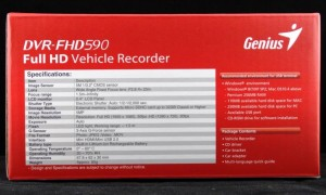 Genius DVR-FHD590 Side Literature 2