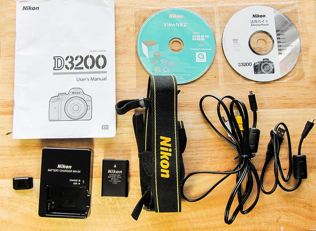 nikon d3200 dslr camera contents