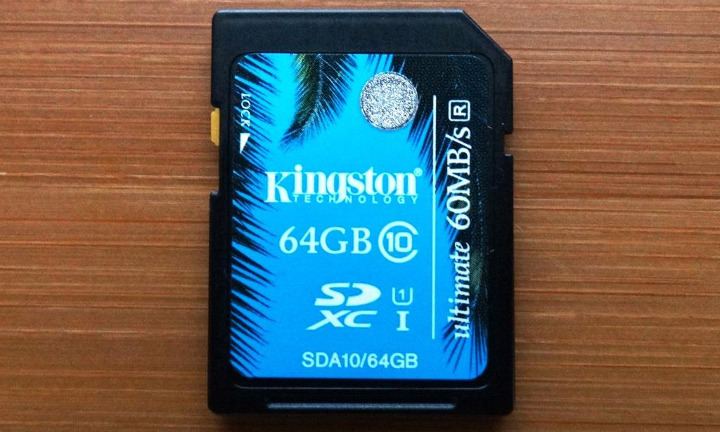 Kingston SDXC Card 64GB 1