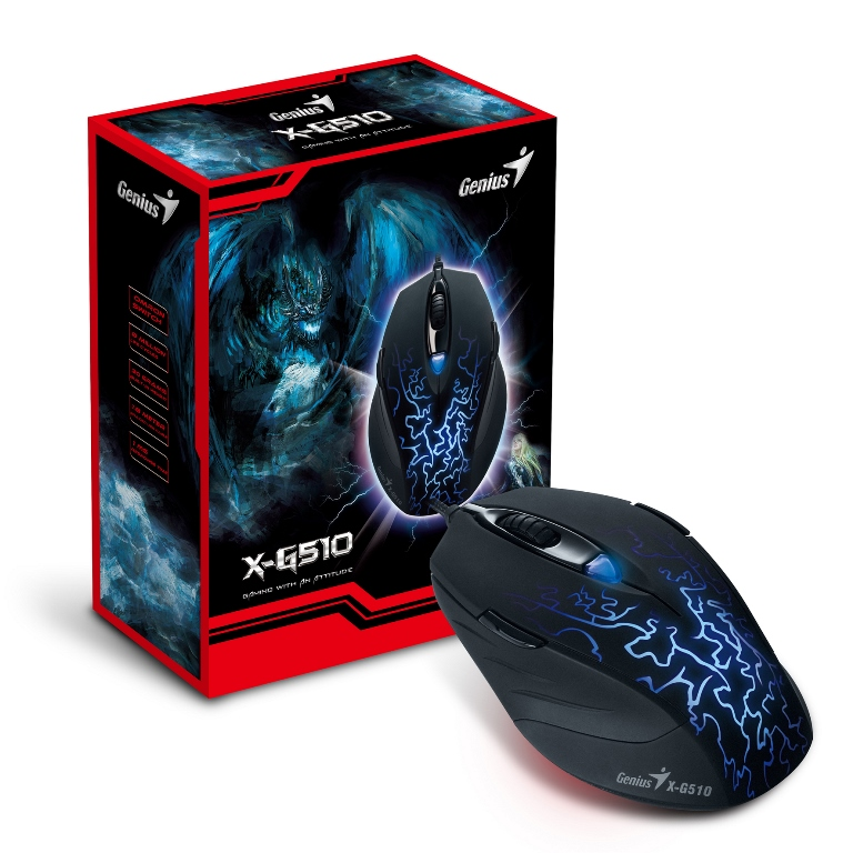 Genius X-G510 Ambidextrous Gaming Mouse