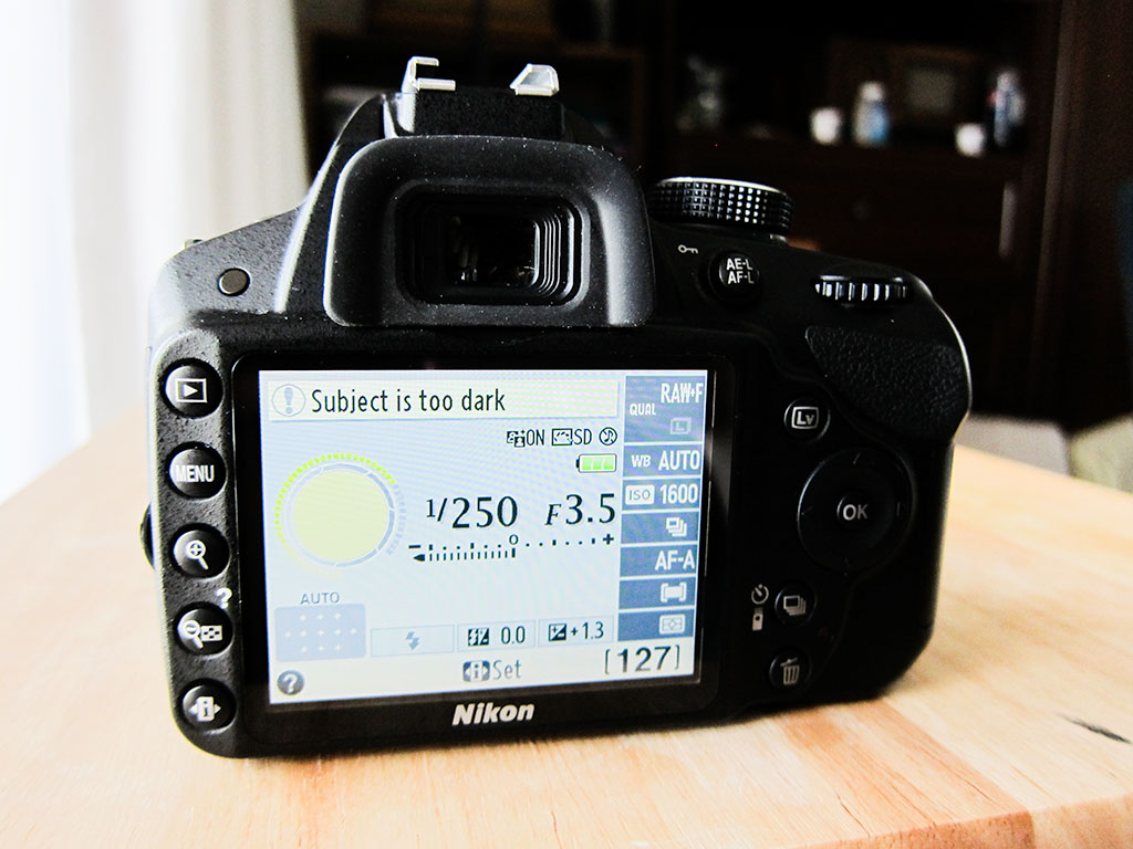 nikon d3200 dslr camera LCD screen