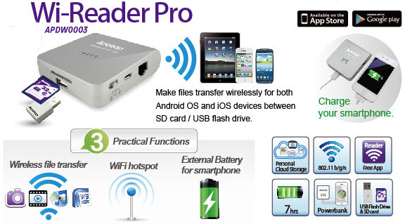 Apotop DW17 Wi-Reader Pro features